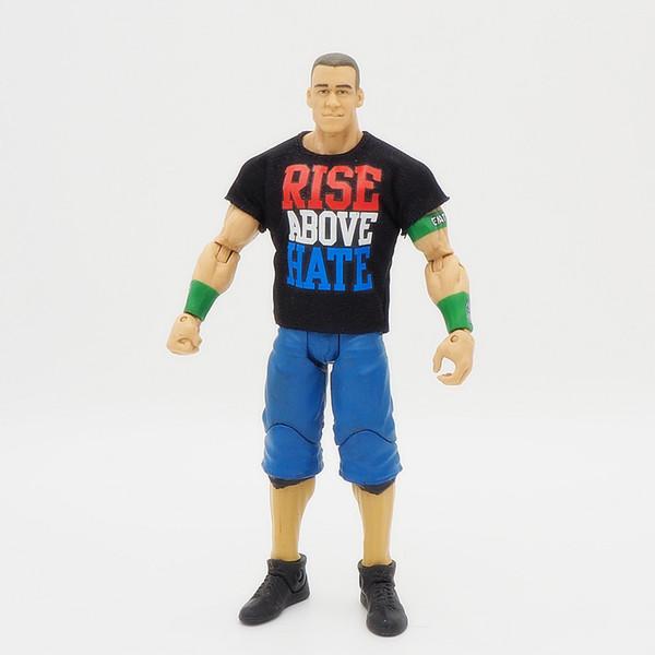Lutte Gladiateurs Figurines Wrestler Blocs de Construction Super Heroes Enfants Cadeau Jouets John Cena + T Shirt Y19062901