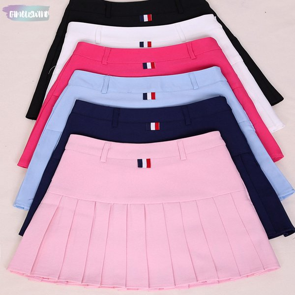 Taille Hohe Faltenröcke Sailor Harajuku Röcke Frauen Lolita A-Line Kawaii Rock Große Größe Adrette Schuluniform