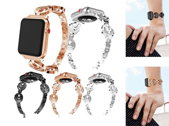 For Apple Watch Band Metal straps iwatch Wrist Band 1/2/3/4 Series thin waist 38MM 42MM epacket