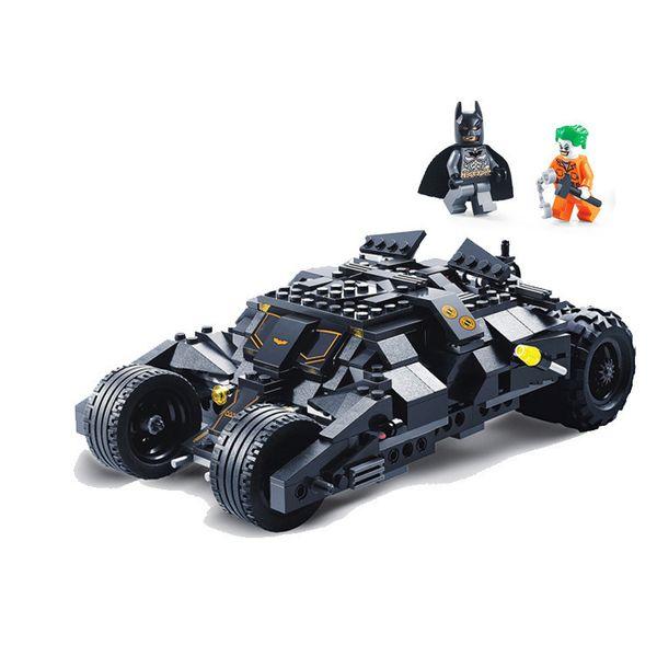 325pcs Super Hero Batman Race Truck Car Classic Building Blocks Compatible With Legoingly Batman Diy Toy Set With 2 Figures J190720