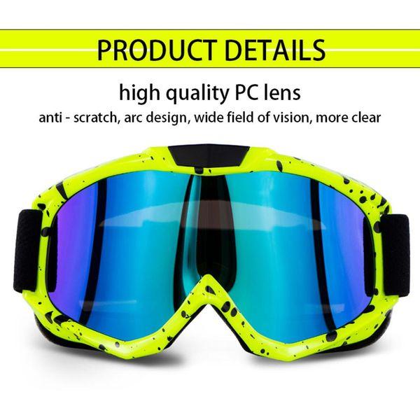Gafas de bicicleta para motocicleta Gafas de carretera antiarañazos a prueba de polvo Gafas de ciclismo Gafas de ciclismo deportivas Gafas de sol