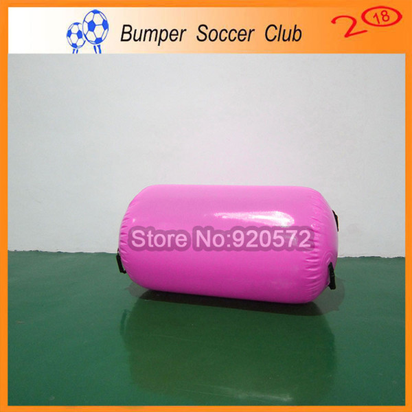 Free Shipping 100x60cm Hand Made Pink Inflatable Barrels Air Roller For Body Exercise For Home Edition