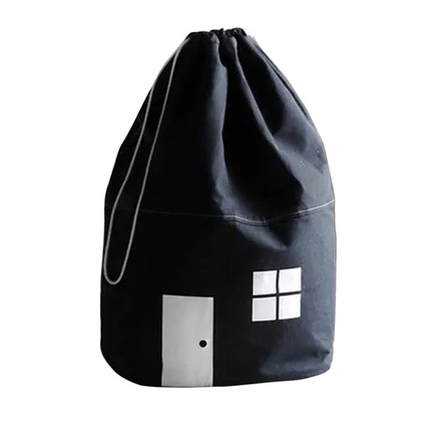 Cotton Sundries Drawstring Small House Kids Mommy Bag Clothes Decoration Cubic Storage
