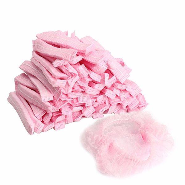 10pcs Pileli Anti Toz Şapka Kadın Erkek Bath Spa Kuaför Güzellik Aksesuar Caps Tek Duş Caps Dokumasız