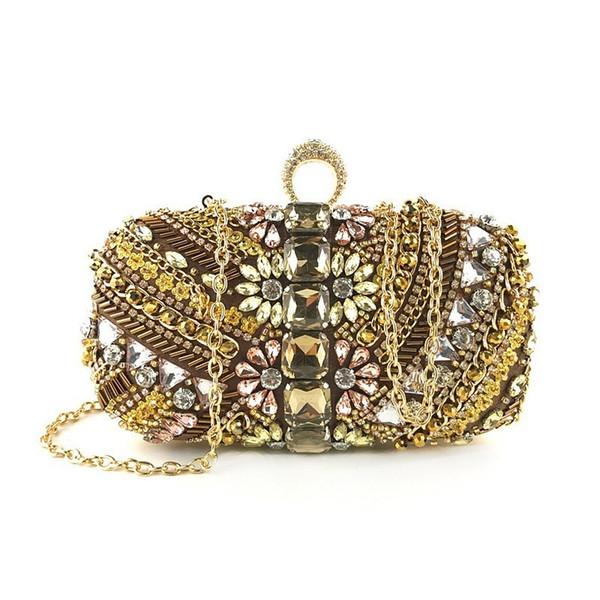 Luxury Evening Bags Women Diamond Rhinestone Pearls Beaded Wedding Clutches Women's Handbags Banquet Clutch Bag Sac Main Femme