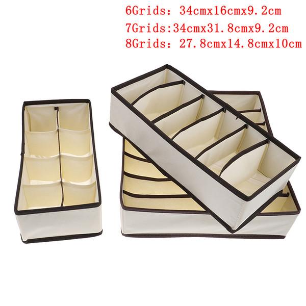 Collapsible Underwear Storage Box Socks Bra Cosmetic Drawer Closet Organizer Multi Sizes Home Kitchen Container