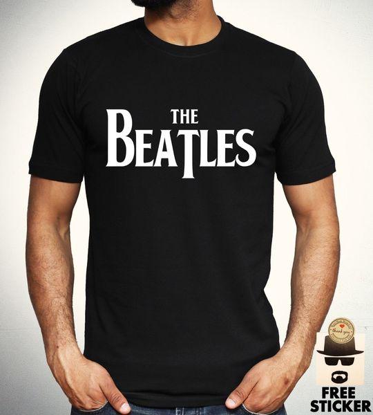 The Beatles Logo T shirt Rock Band Classic Retro Fashion Gift Top Mens S M L XL