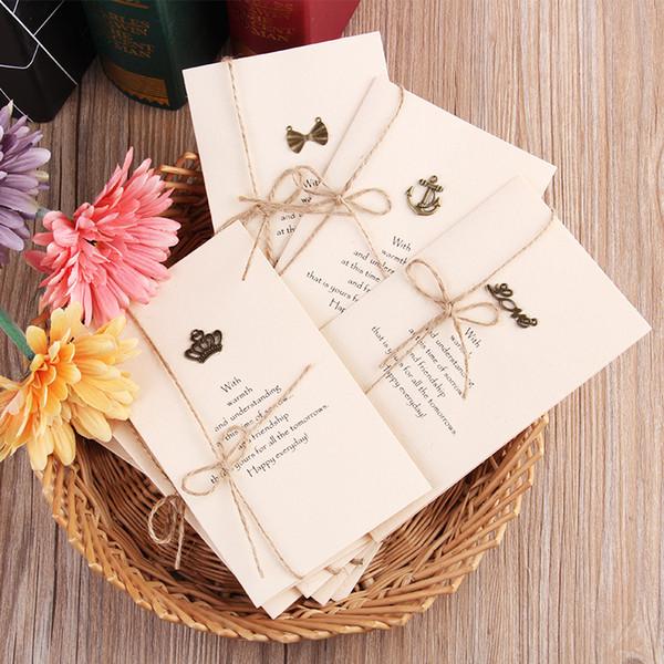 Kraft Paper Blank Cards - ZAKKA Metal DIY Greeting Card For Christmas Birthday Thanksgiving Wedding Blessing Invitation Card