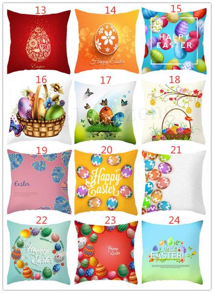 Une variété de styles Pâques Taie d'oreiller Happy Easter Lapin Rgg Taie D'oreiller Coussin Cover Home Decor