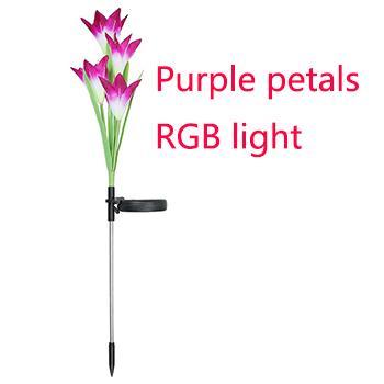 Lila Blüten mit RGB-Licht