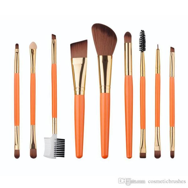 Mybasy 9pcs makeup brush orange set brush beauty tool makeup tool makeup tool hot sell manufacturer direct sale