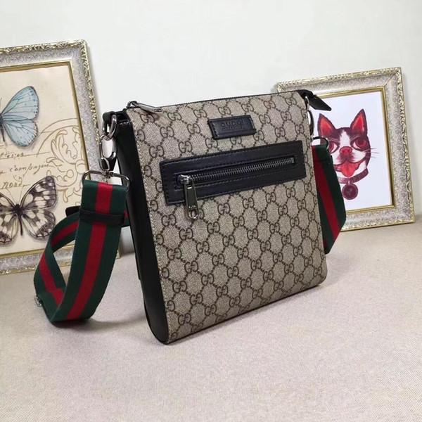 Designer LUX Vintage Hommes Porte-documents en cuir pour homme Crossbody message sac à main G impression Lettre matériel épaule rayure Sacs Rouge Noir