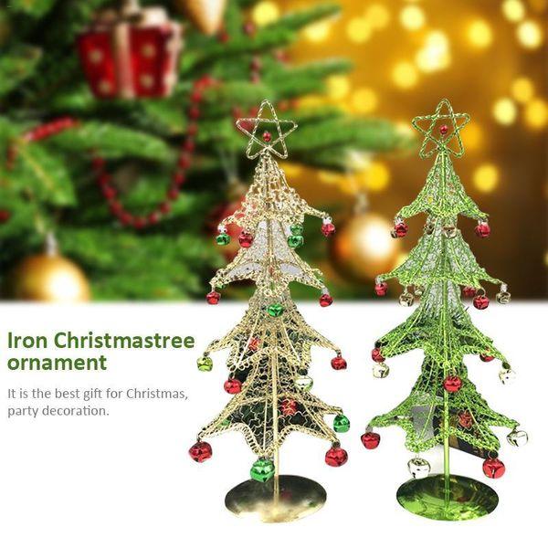 Ornament Eisen Mini-Weihnachtsbaum-Desktop-Baum-Fertigkeit-Dekoration-Geschenk