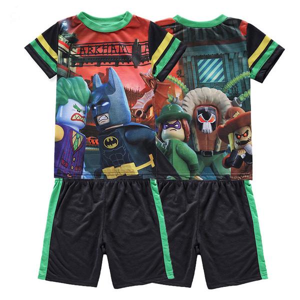 Дети мальчики спортивный костюм комплект одежды 2018 Мода футболки шорты дети летний наряд одежда набор 4 5 6 7 8 9 10 11 12 лет
