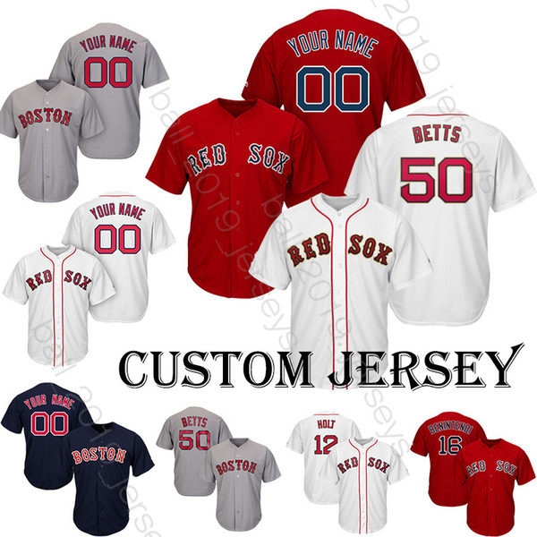 55683b2274a Red Sox jersey 50 Mookie Betts jerseys Baseball Custom jerseys 32 Barnes 16  Benintendi 2 Bogaerts
