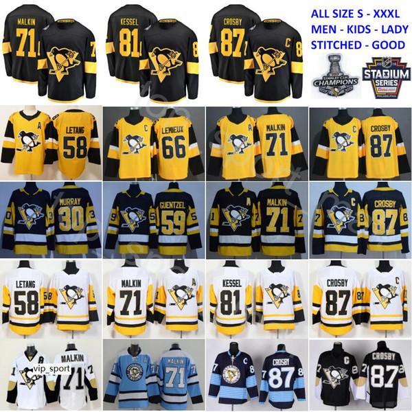 best selling Stadium Series Pittsburgh Penguins Jersey 87 Sidney Crosby 71 Evgeni Malkin Phil Kessel Kris Letang Lemieux Matt Murray Guentzel Hockey