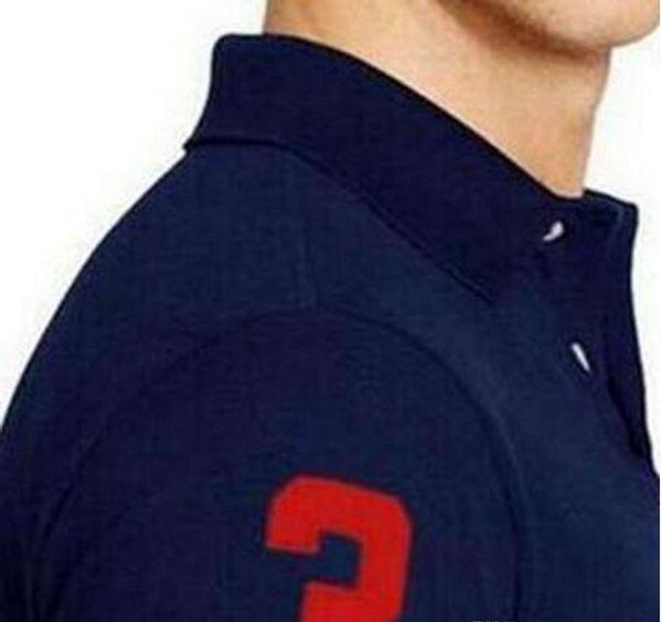 Escritório de Negócios Polo Homens Nova marca de roupa Sólidos Homens Big Cavalo bordado Polo Casual Poloshirt algodão respirável de alta qualidade