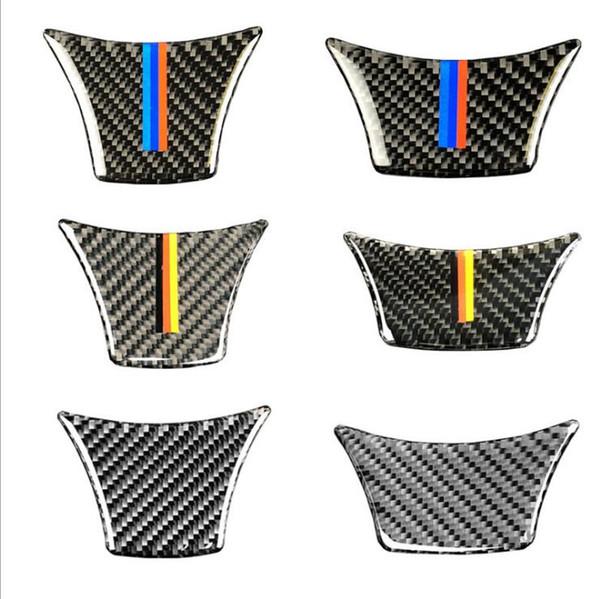 Fashion Design Airspeed for BMW F10 F11 F07 5 Series Carbon Fiber Car Steering Wheel Stickers M Sport 530 525 520i 535i Accessories Car
