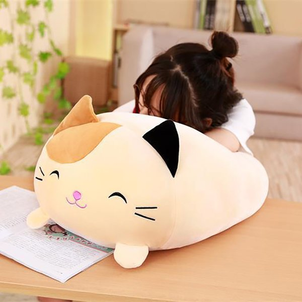 6 Kinds Soft Animal Cartoon Pillow Cushion Cute Fat Dog/Cat/Totoro /Penguin/Pig/Frog Plush Toy Stuffed Home Decor Cat pillow