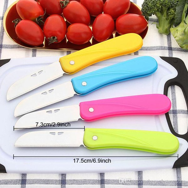 Portable Folding Kitchen Knife Stainless Steel Blade Plastic Handle  Vegetable Knife Kitchen Safety Fruit Peeler Knives BH1880 TQQ Brands Of  Kitchen ...