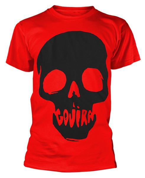 Camiseta Gojira 'Skull Mouth' - ¡NUEVO OFICIAL! camiseta del verano o del cuello, camiseta barata del envío libre, 2019 camisetas para hombre de las camisetas calientes