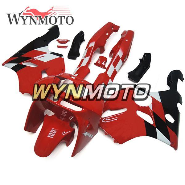 Deep Red et blanc moto carénages Fit Pour Kawasaki ZX-6R 1994 1995 1996 1997 94 95 96 97 Compression moto Carrosserie Hulls