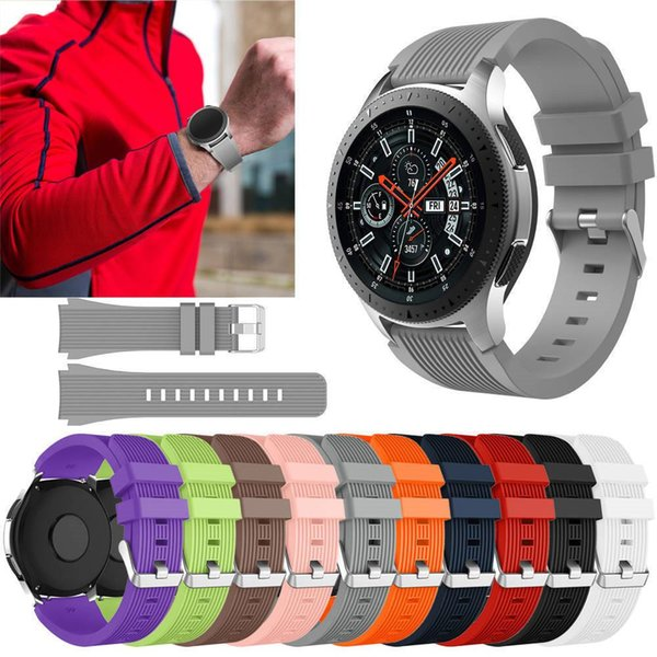 Sport Soft Silicone Bracelet Wrist Band for Samsung Galaxy Watch 42mm 46mm SM-R800 SM-R180 Replacement Smart Watch Strap Wristband Watchband