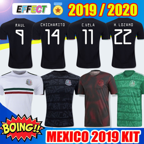 ff40d630cf1f8 New 2019 mexico national occer jer ey home away gold cup chicharito 2020 h  lozano vela