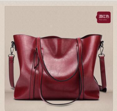 Europe and the United hot States winter new tote bag fashion big bag export Africa oil leather handbag shoulder bag