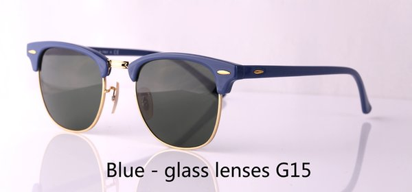 Wholesale-Brand Mens Womens Sunglasses plank frame Metal hinge Glass Lens Cat Eye sun glasses uv400 Goggle With Retail cases and label