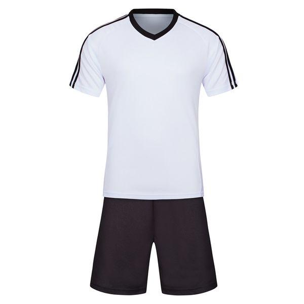 19 20 yeni yaz moda kısa kollu spor takım elbise beyaz elbise siyah pantolon yazdırılabilir T-shirt futbol giyim