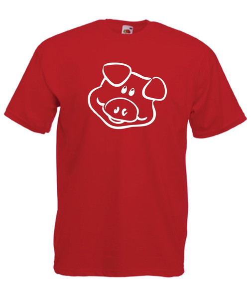 PIG funny animal fashion present party gift size tee New Mens Womens T SHIRT TOP White Black Grey Red Trousers RETRO VINTAGE Classic T-sh