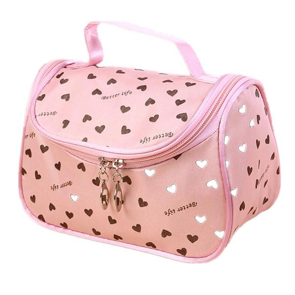 2017 Nuovo Zipper Cosmetic Bag Lady Travel Organizer Accessorio da toilette Cosmetici Make Up Holder Custodia Borsa Sacchetto regalo gratuito S386