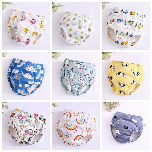 Baby Diapers 6 Layers Newborn Training Pants Reusable Infant Diaper Covers Cartoon Baby Toddler Shorts Nappies Cloth 25 Designs YW3300