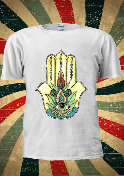Short Sleeve T-shirt Tops Hamsa Hand Khamsa Defend Evil Eye Jewellery T Shirt Men Women Unisex 1832