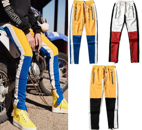 2019 уличная одежда туманные штаны с боковой застежкой-молнией, соответствующие цвету брюк, мужские дизайнерские мужские бегуны, бог страха, брюки оптом