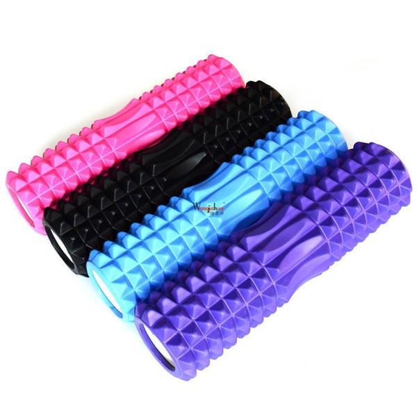 Nova coluna espuma eixo músculo relaxante massageador fina perna rolo cilindro cilindro yoga aptidão tijolo treino
