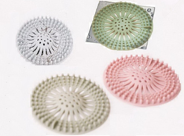 Drain Hair Catcher Bath Stopper Plug Sink Strainer Filter Silicon Kitchen Sink Filter Cover Basin Drainage