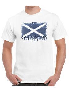 Scotland Camiseta Bandeira escocesa gasto para o dia de St Andrews do rugby do t-shirt do futebol