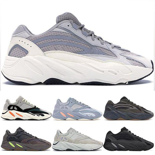 2019 melhor Onda Corredor V2 estático cinza homens s original caixa Kanye West running shoes moda de luxo dos homens das mulheres designer de sandálias sapatos