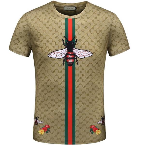 5a61528fd Designer clothes luxury Brand men T-shirt letter animal cat print tshirt  patchwork sleeve Runway