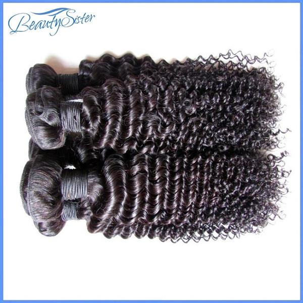 Venta al por mayor barato brasileño rizado rizado extensiones de cabello humano teje paquetes 1kg 10bundles mucho color negro natural 5a grado 100gbundle