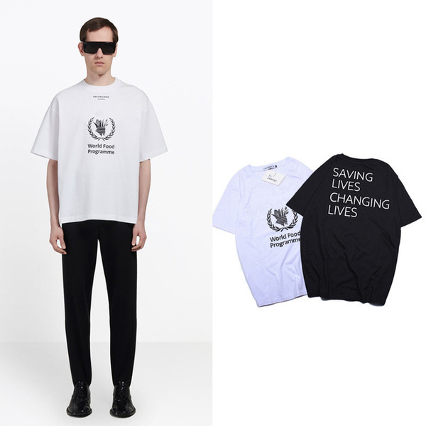 Streetwear Fashion Brand Men Women Designer T-Shirts Hip Hop Black White Clothing Casual Tees Letters Printing Polos M-2XL