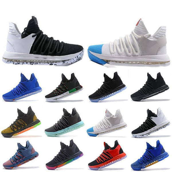 Wholesale New Zoom KD 10 Mens Basketball Shoes Be True BHM celebration All Star Fruit pulp Igloo Designer Trainers Sports Sneakers US 7-12
