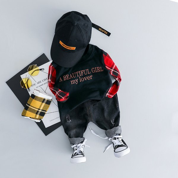 Toddler Baby Boy Clothes Set 2019 Newest Spring Clothing For Toddler Letter T shirt + Pants Outfit 1 2 3 4 Years