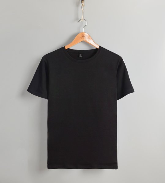 Luck Friday Blank Pure Color High Quality Low Price Round Collar Short Sleeve Concise Shirt T Shirts