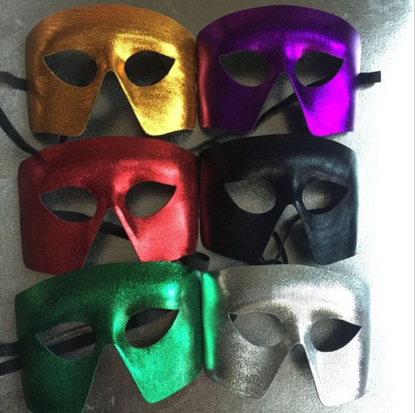 Блеск ПВХ составная маска Рождество Хэллоуин поставляет композитный логотип мужские маски Маскарад поставляет взрослых 6 цветов mixs