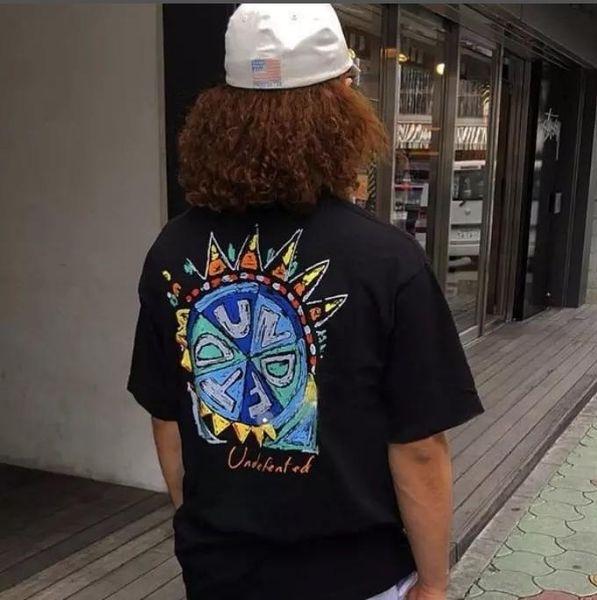 Chemise de mode américaine Tees designer sports de rue hip-hop T-Shirt retro peint soleil impression lâche casual hommes femmes tops T-shirts