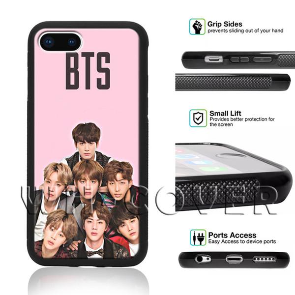 BTS Korean Kpop Band Finger Heart Bangtan BoyS South FS3 JungKook Jimin Jung Kook SDEG Phone Case For iPhone Samsung iX 6/7/8 XR MAX Plus SE