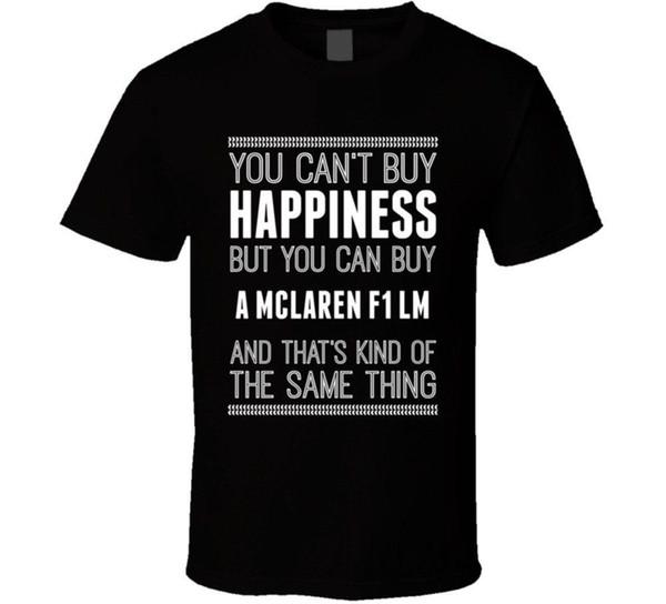 Kaufen Sie ein McLaren F1 LM Glück Autoliebhaber T-Shirt 100% Baumwolle Kurzarm Oansatz Tops T-Shirts Druck T-Shirt Männer Marke Kleidung